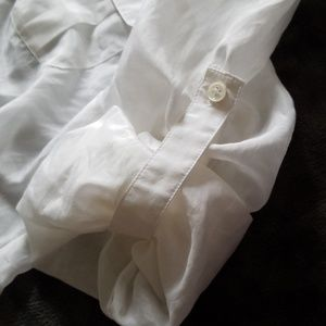 BCBGMaxAzria Tops - Convertible White Button Down L/S BCBG MAX AZRIA